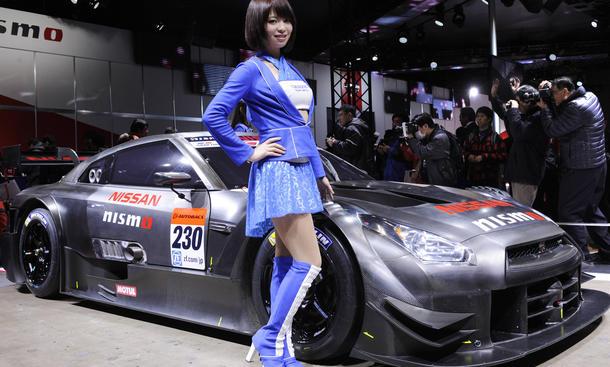 Tokyo Auto Salon 2014 Bilder Messegirls Rundgang Highlights Nissan GT-R Nismo imago