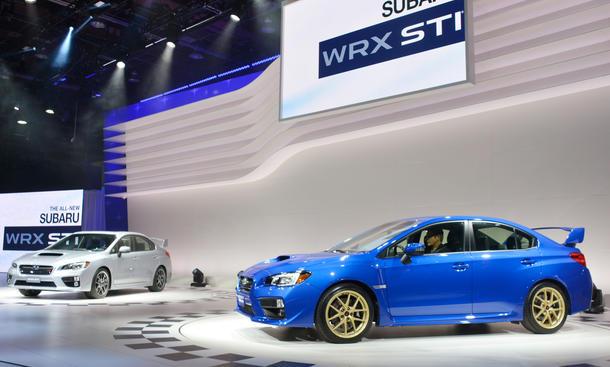 Subaru WRX STI 2014 Detroit Auto Show Sportversion Rallye Bilder NAIAS
