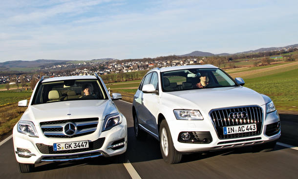 audi q5 3 0 tdi clean diesel quattro vs mercedes glk 350. Black Bedroom Furniture Sets. Home Design Ideas