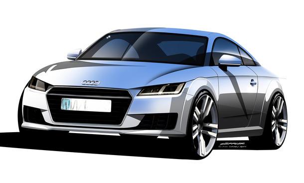 Audi TT 2014 Genfer Autosalon Skizzen Sportwagen Coupé Design