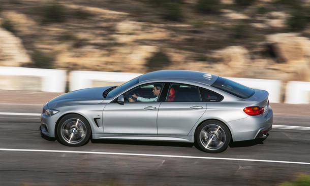 BMW 4er Gran Coupé 2014 silber metall effekt lack rechte seite