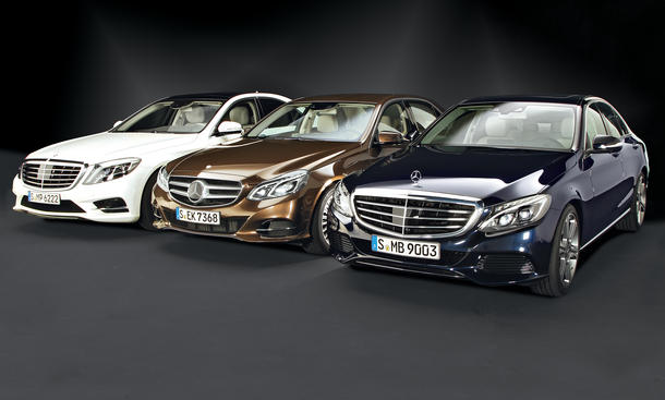 Bilder Mercedes Limousinen C- E- S-Klasse Exklusiv Vergleich