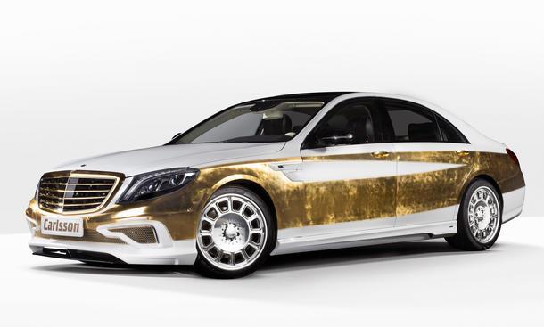 Carlsson CS50 Versailles Edition Mercedes S-Klasse Autosalon Genf 2014 Gold Luxuslimousine