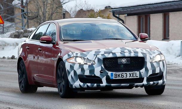 Jaguar XJ Facelift 2014 Erlkönig X351 Oberklasse Limousine Bilder Prototyp