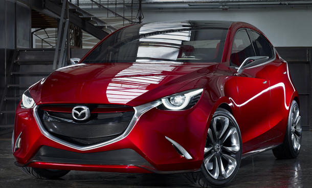Mazda Hazumi 2014 Genfer Autosalon Mazda2 Kleinwagen