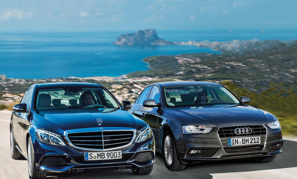 audi a4 1.8 tfsi vs. mercedes c 180: vergleich | autozeitung.de