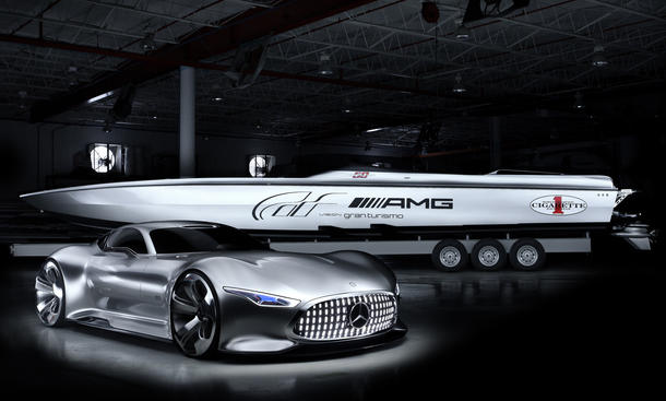 Mercedes Cigarette Racing 50 Vision GT Concept Boat Powerboat Yacht