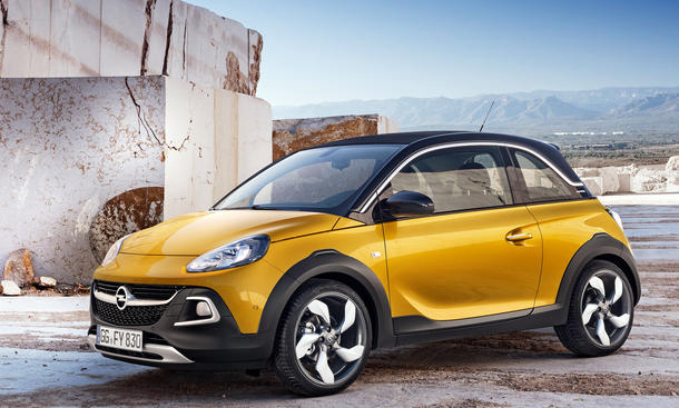 opel adam rocks 2014 rolldach cabrio serienreif in genf. Black Bedroom Furniture Sets. Home Design Ideas