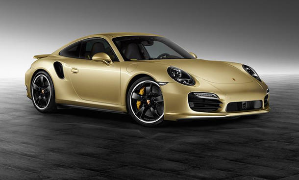 Porsche 911 Turbo Sondermodell Porsche Exclusive Lime Gold Metallic Bilder