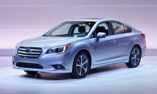 Subaru Legacy 2014 Chicago Auto Show Limousine Premiere Bilder Mittelklasse
