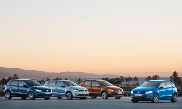 VW Polo 2014 Facelift Genfer Autosalon Bluemotion BlueGT Crosspolo Kleinwagen