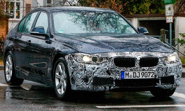 2015 BMW 3er Facelift Erlkoenig Mittelklasse Limousine