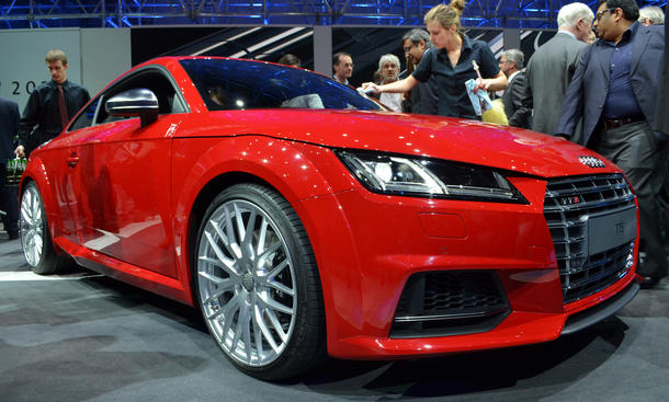 Audi TT TTS 2014 Live Bilder Genfer Autosalon VW-Konzernabend