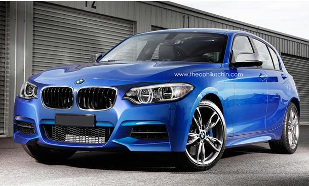 BMW 1er Facelift 2015 Design Front Dreizylinder Motoren Diesel Benziner
