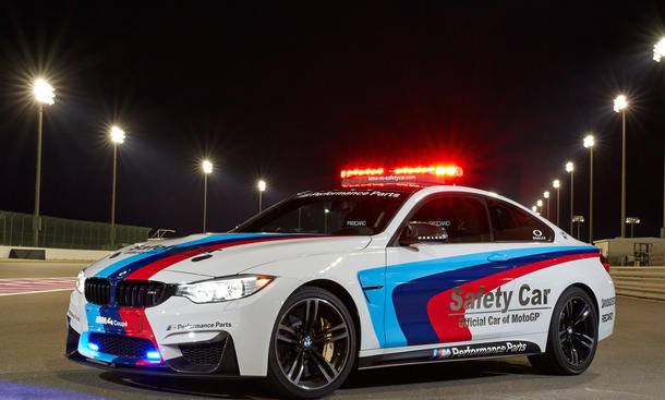BMW M4 MotoGP 2014 Safety Car M Performance Parts Qatar Doha