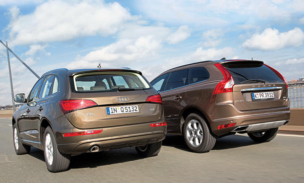 audi q5 2 0 tdi quattro vs volvo xc60 d4 awd suv. Black Bedroom Furniture Sets. Home Design Ideas
