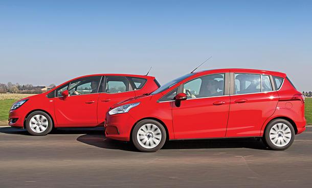 Bilder Ford B-MAX Opel Meriva Markenvergleich