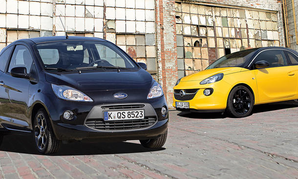 Ford Ka 1.2 Opel Adam 1.4 ecoFLEX Vergleich City-Cars Markenvergleich