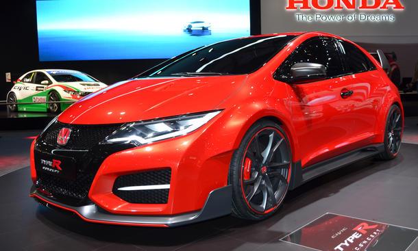 Honda Civic Type R Concept 2014 Autosalon Genf 2014 Studie Bilder Heckansicht