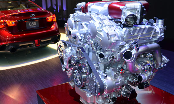 Infiniti Q50 Eau Rouge 2014 Genfer Autosalon V6 Motor GT-R Nissan