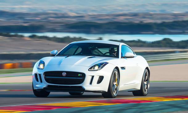 Jaguar F-Type Coupe Preise technische Daten Marktstart 2014 Frontaufnahme Polaris White