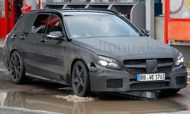 Mercedes C 63 AMG 2014 T-Modell V8-Biturbo Erlkoenig S205 W205
