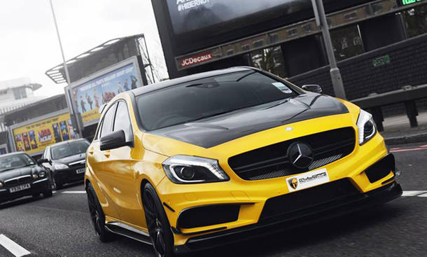 mulgari mercedes a45 amg black series tuning. Black Bedroom Furniture Sets. Home Design Ideas