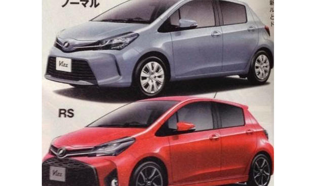 Toyota Yaris Facelift 2014 Leak Bilder Kleinwagen RS Sportversion