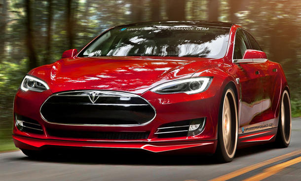 Unplugged Performance Tesla Model S Tuning Elektroauto Bodykit Spoiler