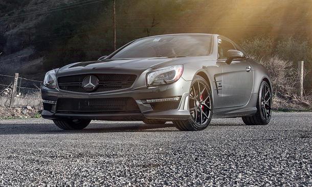 Vorsteiner Mercedes SL 63 AMG Tuning Felgen Power-Roadster matt schwarz