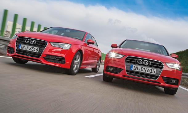 Audi A3 Limousine gegen A4 1 8 TFSI im Vergleich