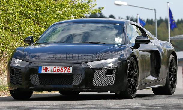 2015 - [Audi] R8 II / R8 II Spider - Page 2 Audi-R8-2015-Erlkoenig-Coupe-Supersportler-01