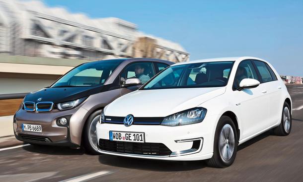 BMW i3 VW e-Golf Elektroauto Vergleich Bilder technische Daten