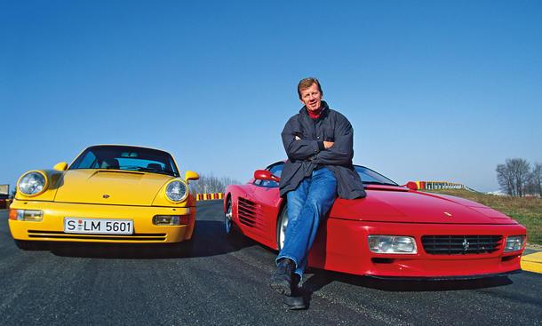 Porsche 911 turbo 3.6 Ferrari 512 TR Vergleich Bilder technische Daten