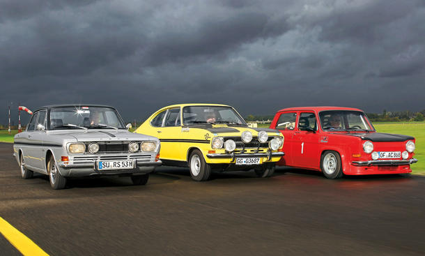 Ford 15 M RS Opel Kadett B Rallye Simca Rallye 2 Vergleich Kompaktsportler Bilder technische Daten