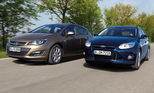 Ford Focus Opel Astra Markenvergleich Bilder technische Daten