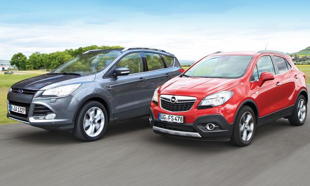 Ford Kuga Opel Mokka Markenvergleich Bilder technische Daten
