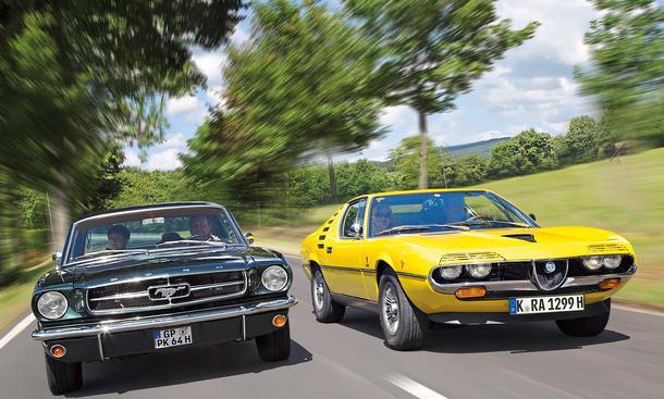 Ford Mustang Alfa Romeo Montreal Vergleich Bilder technische Daten