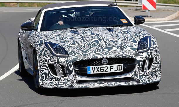 Jaguar F-Type R-S Erlkönig 2014 Prototyp Bilder Supersportler