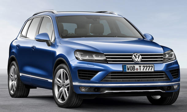 VW Touareg Facelift 2014 Peking SUV Weltpremiere China