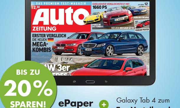ePaper Aktion Bauer Verlag Samsung Galaxy Tab 4 Abo Auto Zeitung