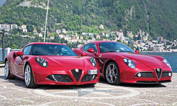 Alfa Romeo 4C 8C Competizione Vergleich Faszination Sportwagen Bilder