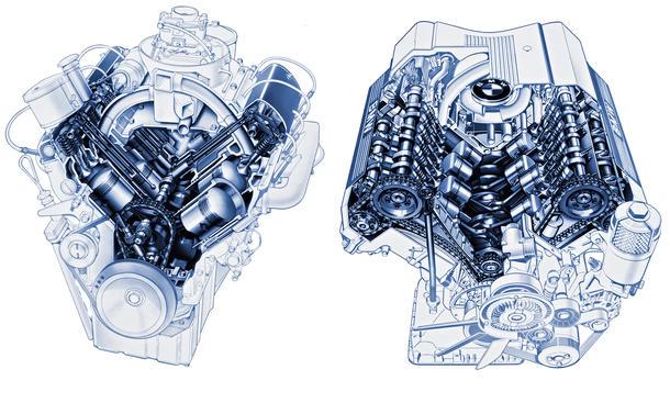 BMW V8 502 740i M60-Motor Technik