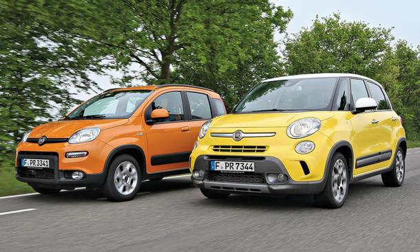 Fiat 500L Fiat Panda Trekking Konzeptvergleich Vergleich SUV Bilder