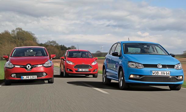 Neuer VW Polo Ford Fiesta Renault Clio Vergleich Bilder technische Daten
