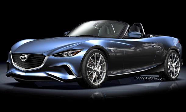 Neuer Mazda MX-5 2015 Roadster Designstudie