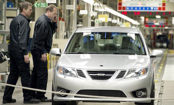Neuer Saab 9-3 Produktion unterbrochen Finanzierung Schweden