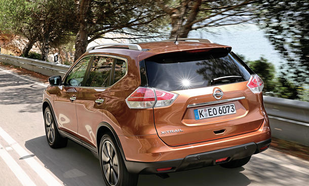 nissan x trail 1 6 dci neues crossover suv im fahrbericht. Black Bedroom Furniture Sets. Home Design Ideas