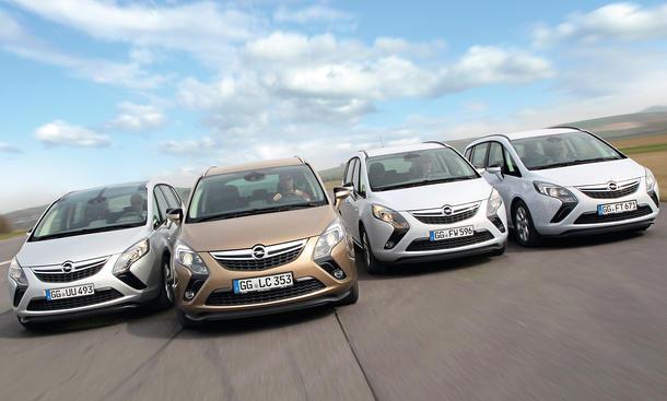 Opel Zafira Vergleich Der Antriebe Cng Und Lpg Vs Benziner Und