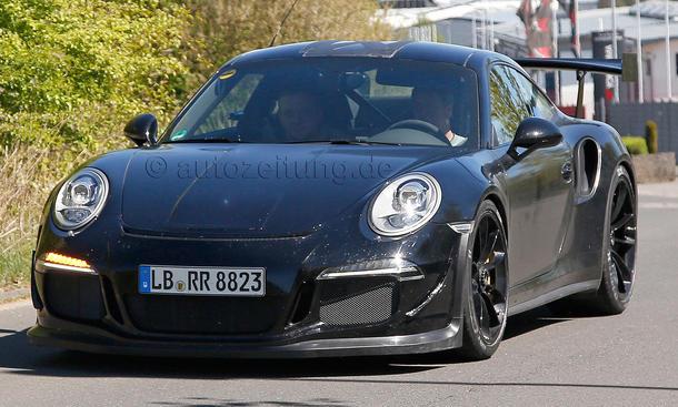 Porsche 911 GT3 RS 991 2015 Erlkoenig Supersportler Neuheiten Paris 2014